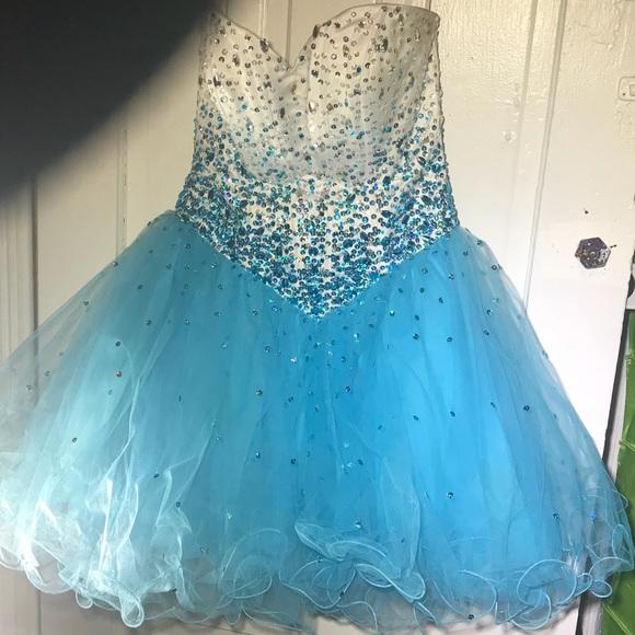 Blue Princess Prom Dress